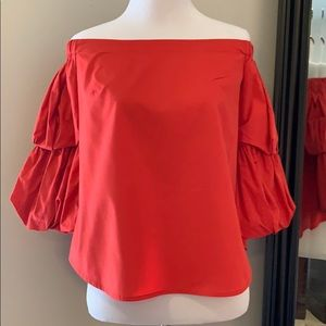 Banana Republic off the shoulder Cropped Blouse
